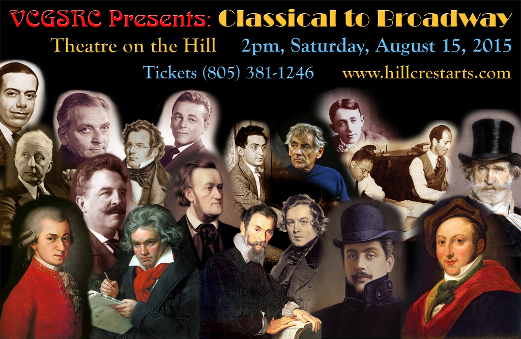 Classical to Broadway, August 15 at 2pm