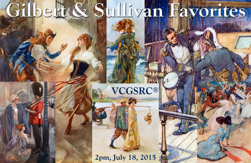Gilbert & Sullivan Favourites, July 18 at 2pm